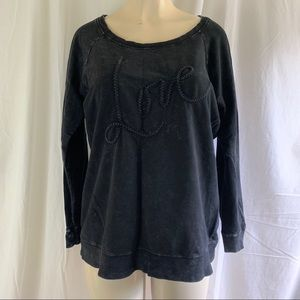 Torrid Love sweatshirt black size 0 Large